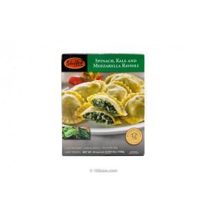 Ravioles rellenos de espinaca, kale y mozarella