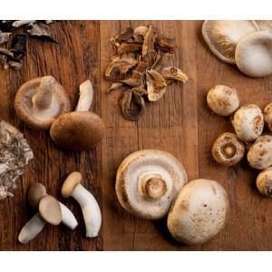 Bandeja 4 hongos (champiñon, cremini, ostra, shiitake) 350gr