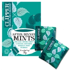 "Infusión Orgánica de doble menta e hinojo ""After Dinner Mints"" (Clipper)"