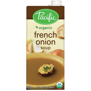 Sopa orgánica de cebolla francesa