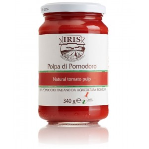 Salsa de tomate orgánica italiana (IRIS)