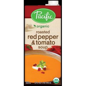 Sopa Orgánica de Chile Dulce Rostizado y Tomate
