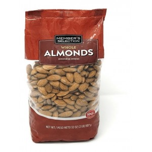 Almendras enteras crudas (member´s selection) 907 g