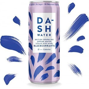 Agua gasificada con sabor a grosella negra (DASH)