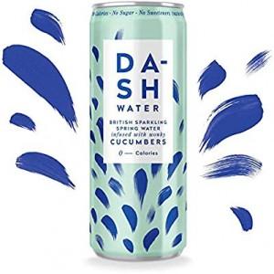 Agua gasificada con sabor a pepino (DASH)