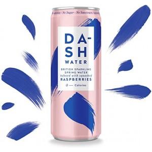 Agua gasificada con sabor a frambuesa (DASH)