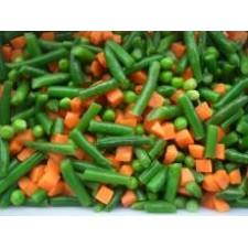 Vegetales congelados (zanahoria orgánica y vainica)