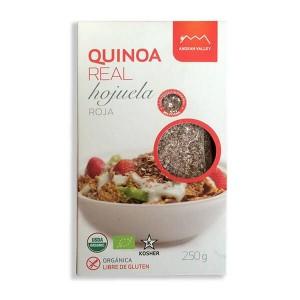 Quinoa roja orgánica en hojuelas