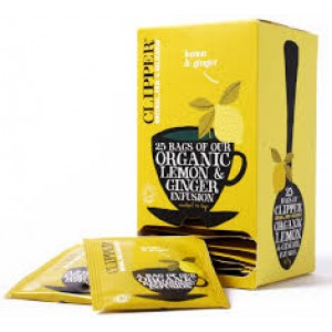 Infusión Orgánica de limón y jengibre (Clipper)
