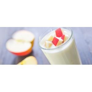 Yogurt líquido de manzana con canela