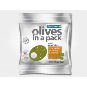 Snack de aceitunas verdes