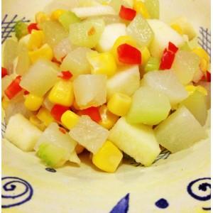 Picadillo de chayote con maíz dulce
