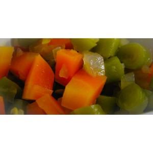 Picadillo de vainica con zanahoria