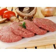 Tortas de carne para hamburguesa (113 gramos): 4 unidades