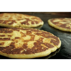Tortillas de queso palmeadas