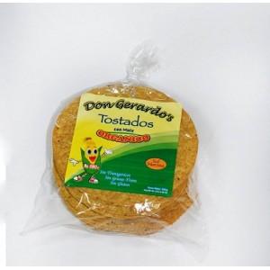 Tortillas de maíz amarillo orgánico para chalupas