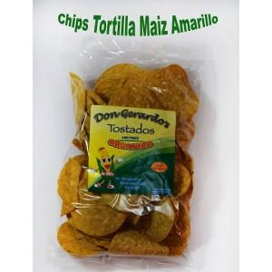 Chips de maíz amarillo orgánico