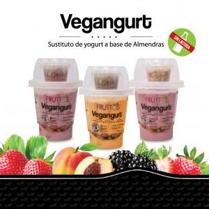 Vegangurt de fresa sustituto de yogurt a base de almendras Fruttos