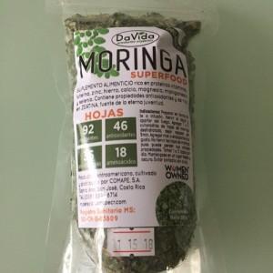 Moringa Hojas Deshidratas Orgánica