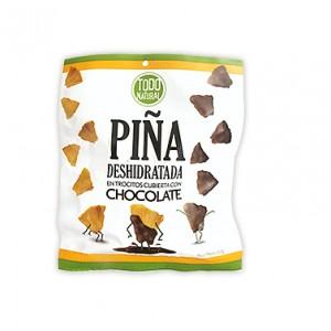 Piña Deshidratada con Chocolate