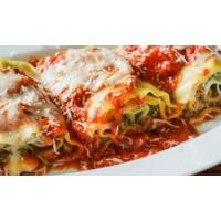 Rollitos de Lasagna rellenos con ricotta y espinaca orgánica