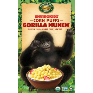 Cereal Organico GORILLA MUNCH CORN PUFFS GF - 284grs