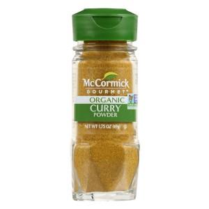 Curry organico molido McCormick - 49g