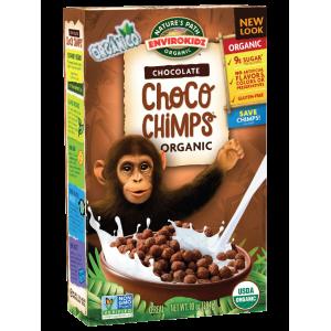 Cereal Organico Choco Chimps GF - 284grs