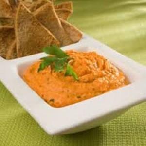 Dip de Hummus con Chile Morrón