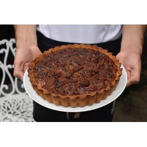 Pie de Almendras, nueces y caramelo (Porción)