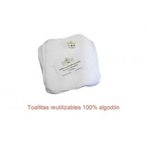 Toallas reutilizables orgánicas para bebé (8 unidades)